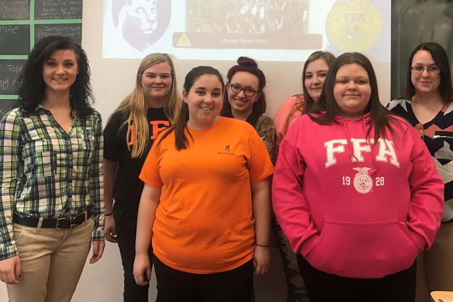 Penn State Students Discuss College with Tyrone Ag Students