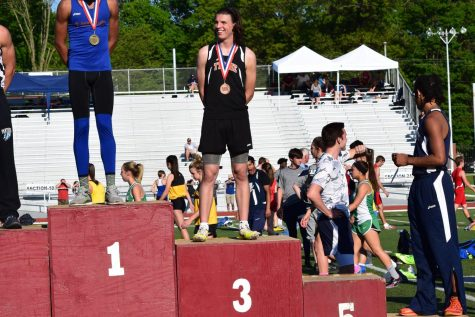 Jake Meredith placed third in the long jump and will move on to the state championship meet