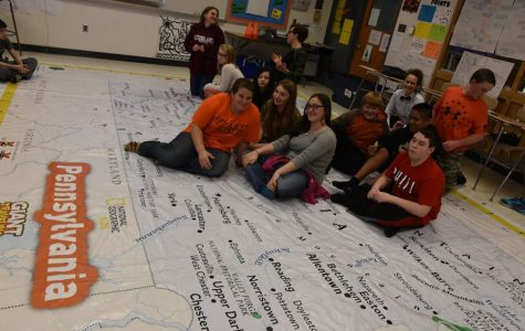 Going Big: Geography Class Uses Giant Map of PA