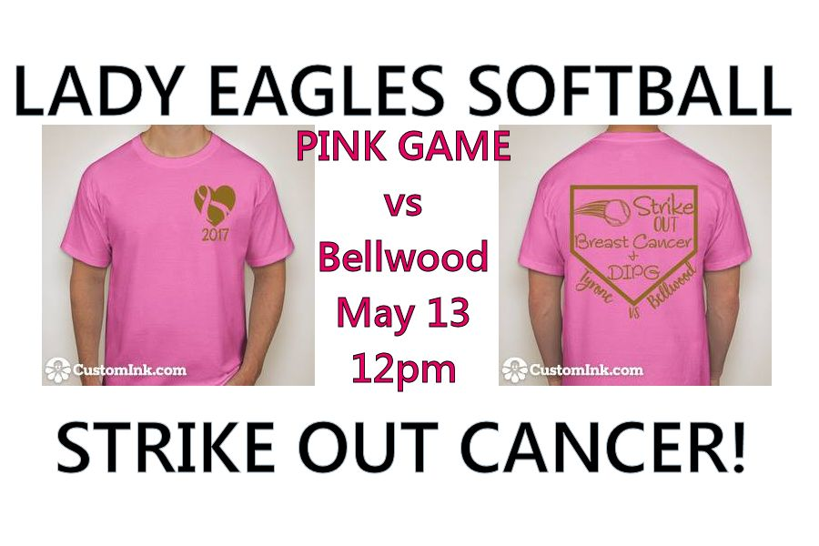 Tyrone Softball to Host Pink Game on Saturday, May 13 vs. Bellwood