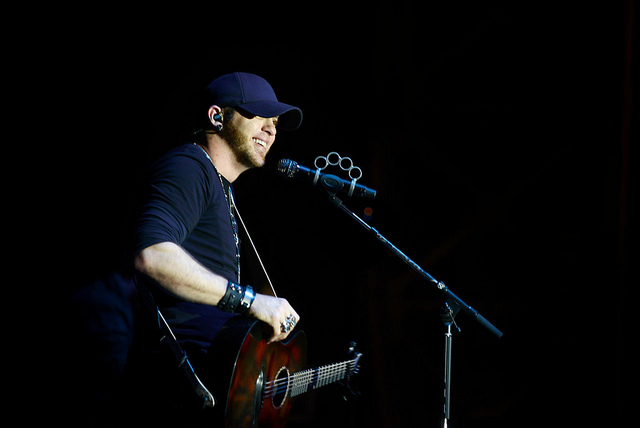 Country music star, Brantley Gilbert, embarks on his USO tour and makes a special visit to Aviano AFB, Italy on March 20, 2013