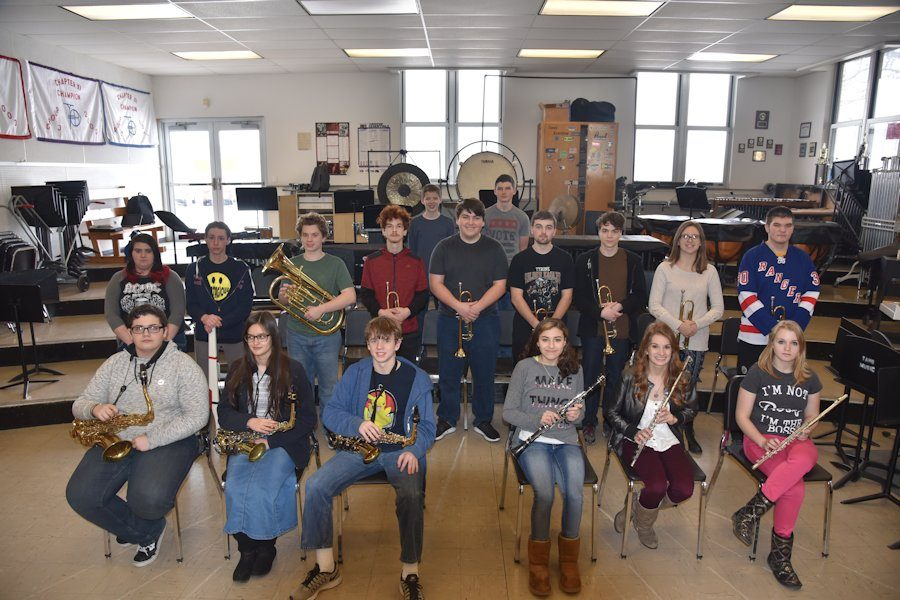 Last year's members of the High School Concert band