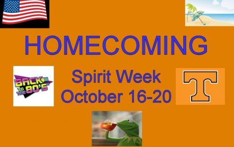 Celebrate Spirit Week! October 16-20