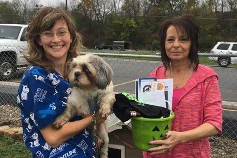 Bev Eirich and Central PA Humane Society Senior Adoption Counselor Dawn Roberts.