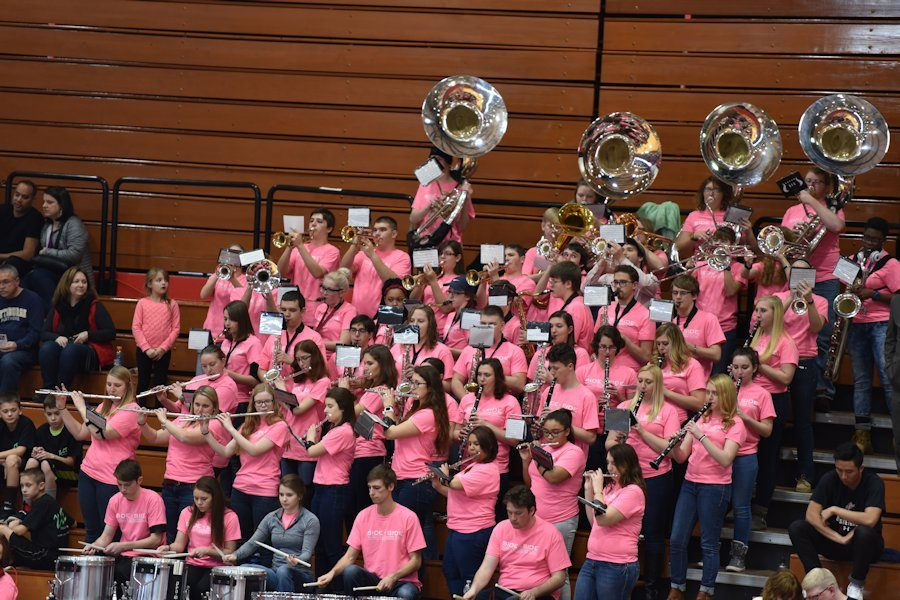 Members of the St. Francis University Pep Band