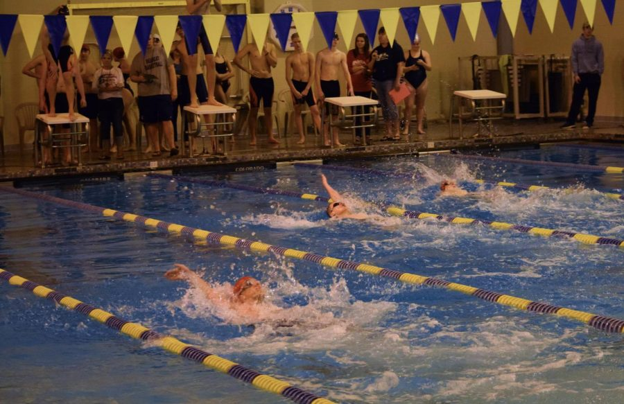 Girls Swimming Sneaks in Win Against Huntingdon While Boys Grow Stronger