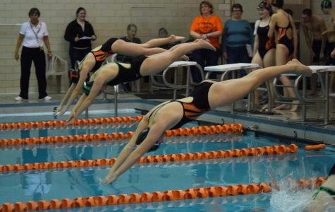 Girls Swimming Breaks 100: Tyrone Splits Meet Against Marion Center