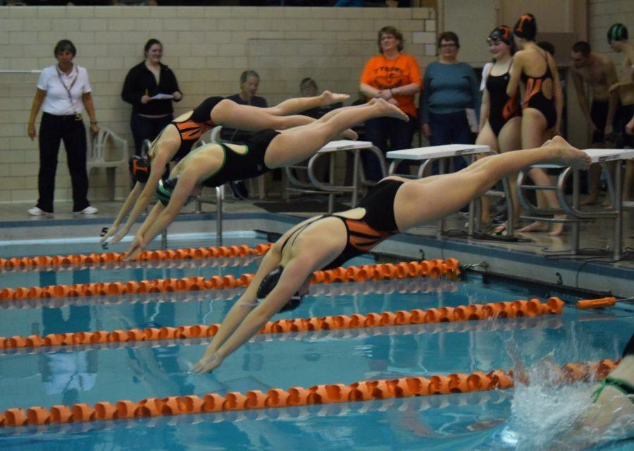 Girls Swimming Breaks 100: Tyrone Splits Meet Against Marion Center