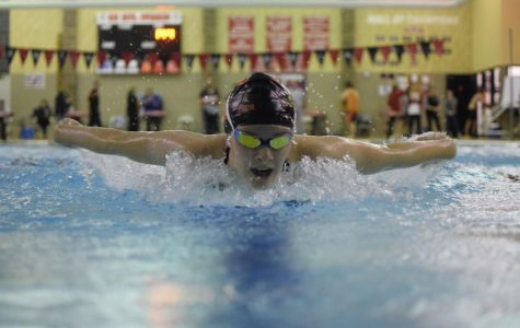Swim Team Splits Central Cambria Meet on Valentine's Day