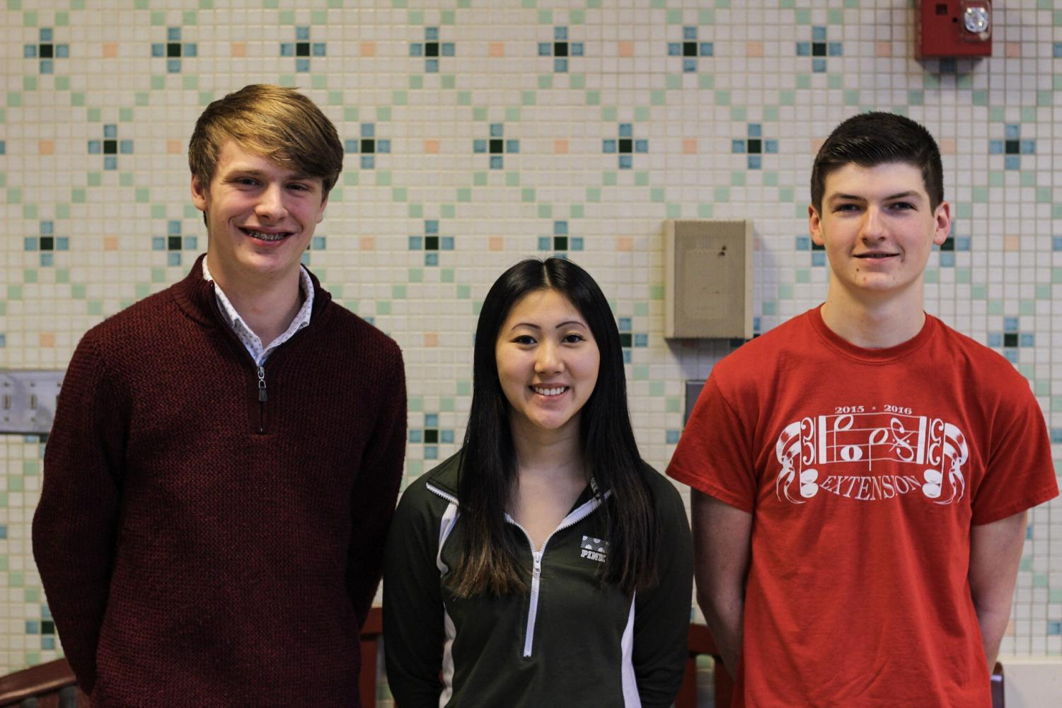 Brent McNeel, Molly Harris and Ethan White