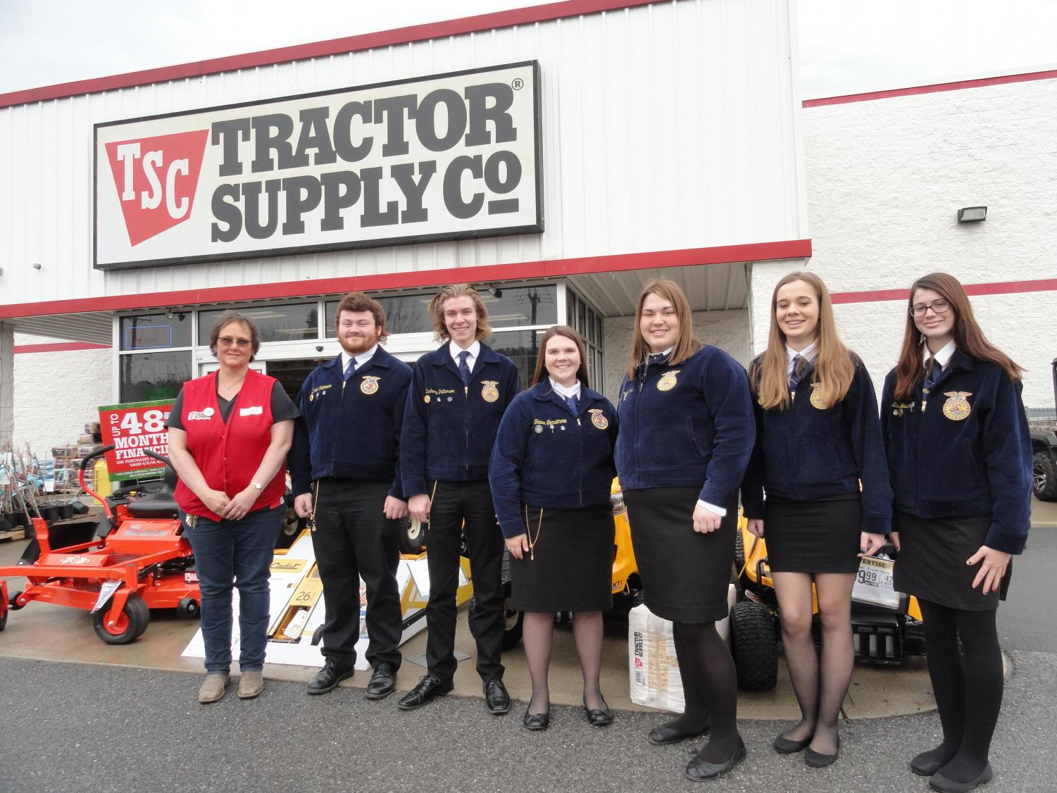 FFA students received a grant from Tractor Supply Company
