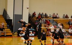 Lady Eagles Claw the Bearcats in Four Set Match