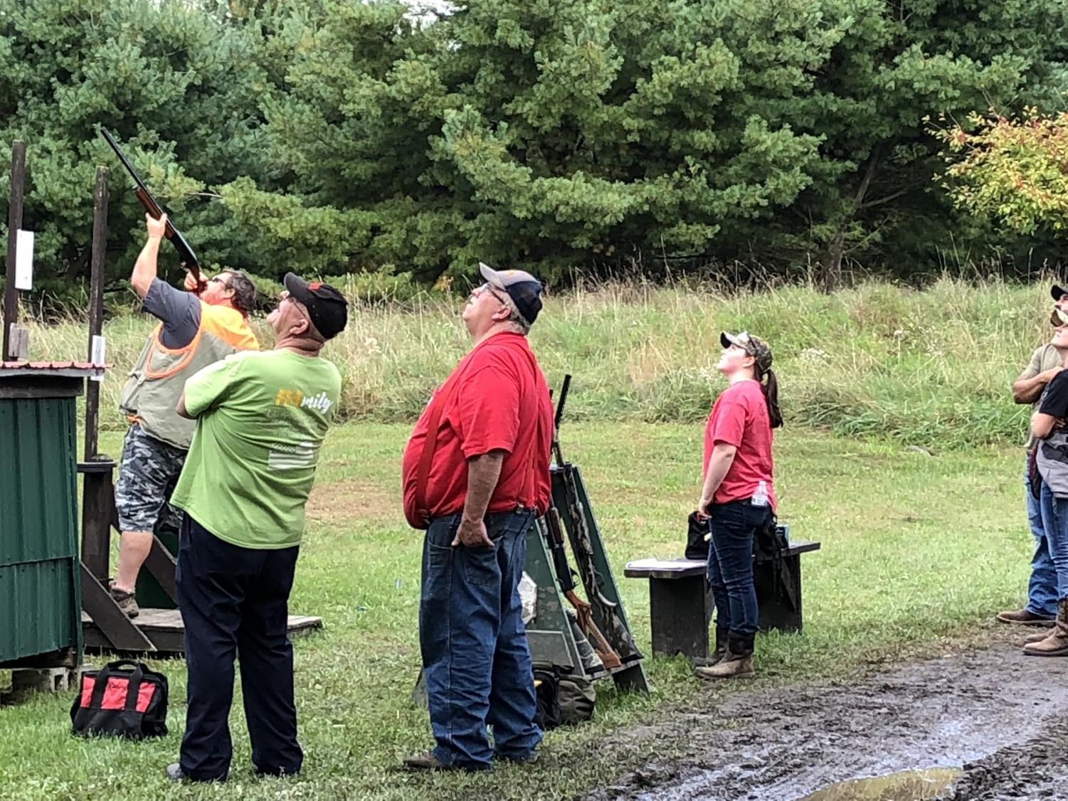 Participants were challenged to a variety of clay targets throughout the 50 shot course. Some clays fly away from the participants, other clays came from behind or right or left.  There were also clays rolling along the ground knows as rabbits.  The course was set to challenge competitive shooters, but also allowed for beginners to gain confidence in shooting clays for the first time
