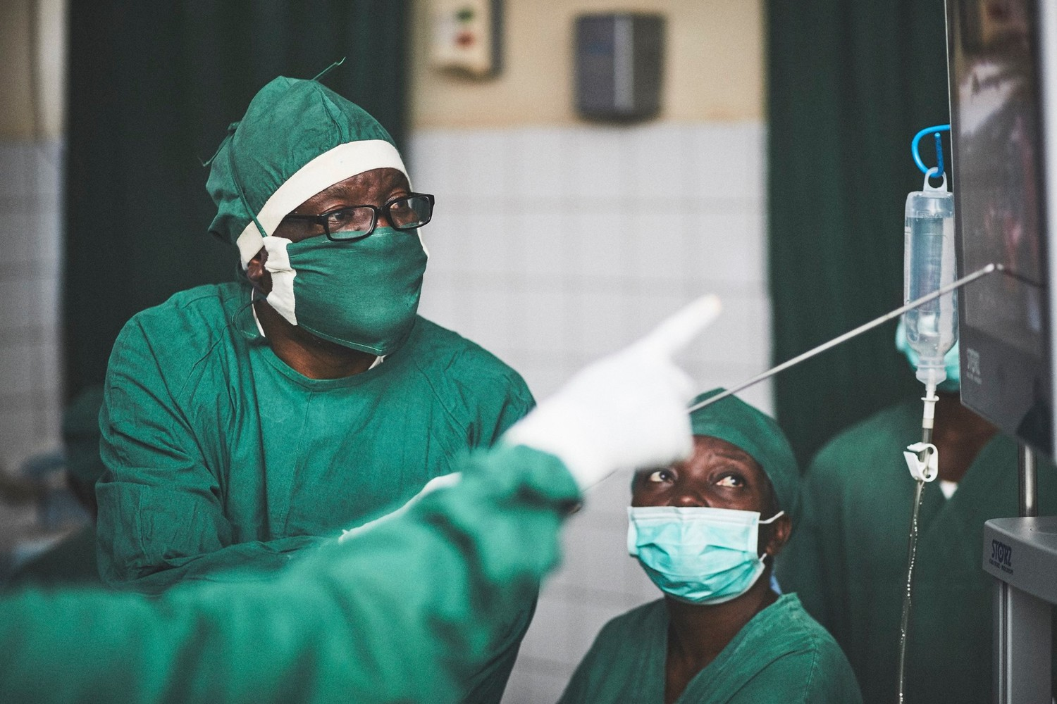 Dr. Denis Mukwege performs surgery at Panzi Hospital.