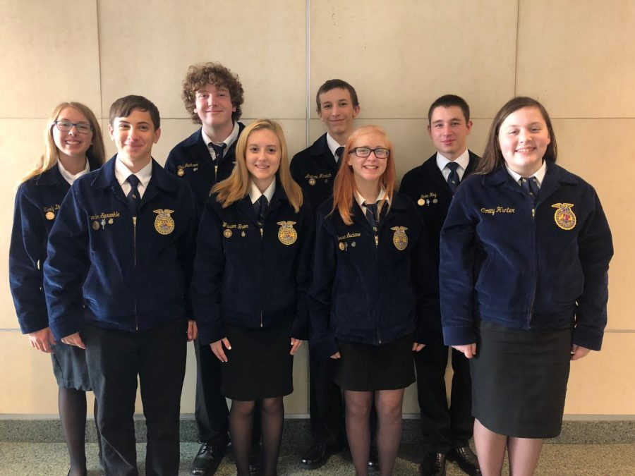 Garin+Hoy%2C+Karly+Diebold%2C+Alyssa+Luciano%2C+Grace+Peterson%2C+Brandon+Sprankle%2C+Andrew+Minnich%2C+Colin+Jackson%2C+and+Whisper+Breon+represented+the+Tyrone+Area+FFA+chapter.+%C2%A0