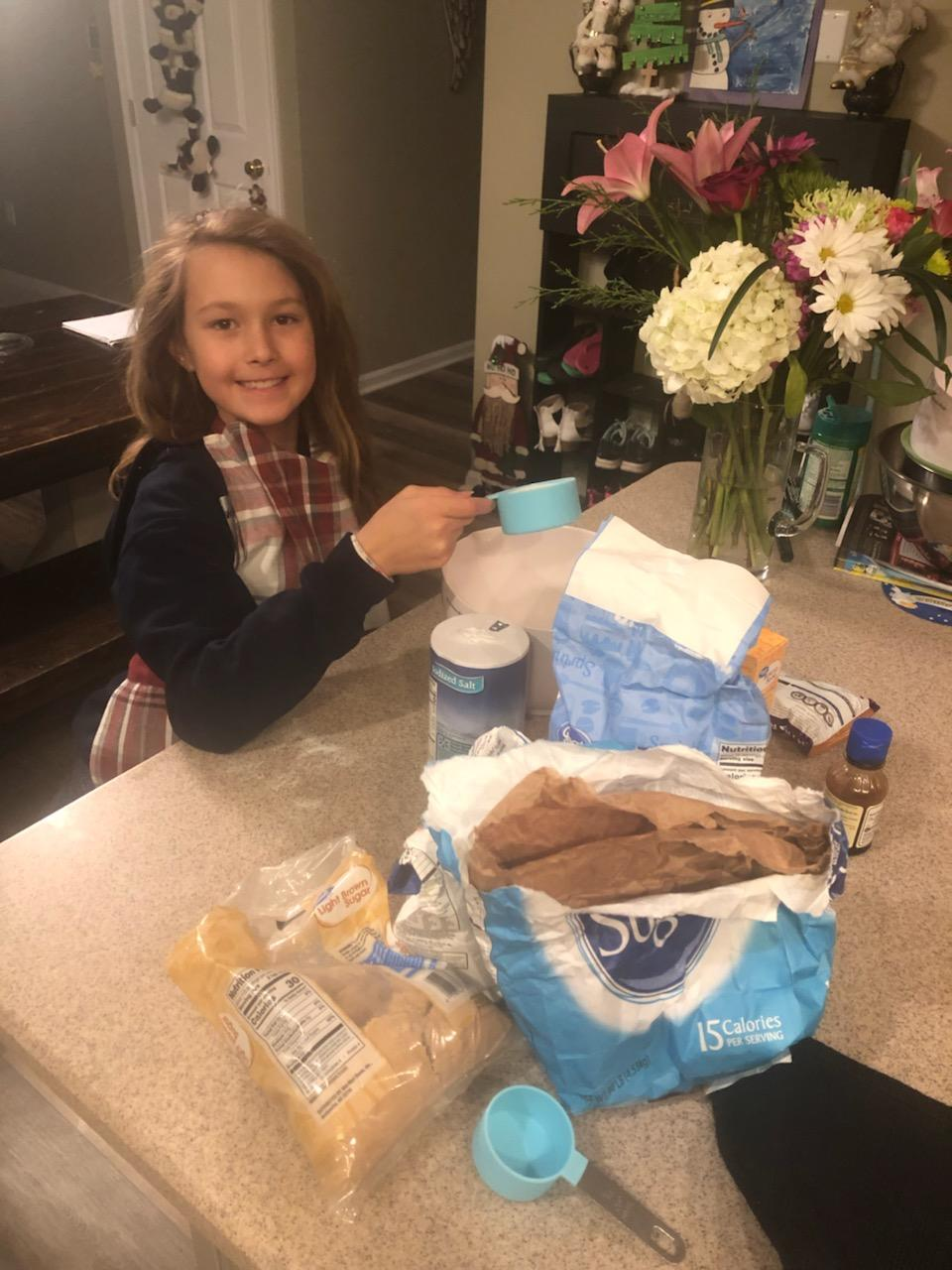 Mrs. Budney's daughter Kynlee, who is nine, loves to bake, and helped her mom make the first place cookies.