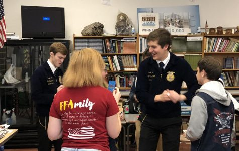 Local FFA Members Get a Visit from State FFA Officals