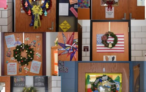 Just a few of the wreathes decorating the doors of TAHS.  Voting for the best wreath will be open until 9:00 am on December 21.