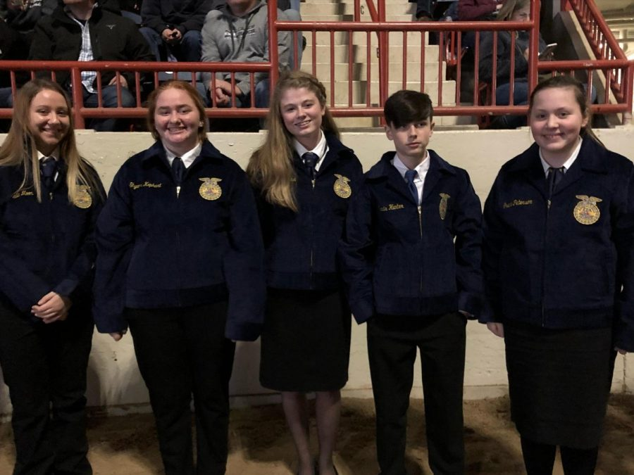 All+five+of+the+recipients+to+receive+their+FFA+jackets.+