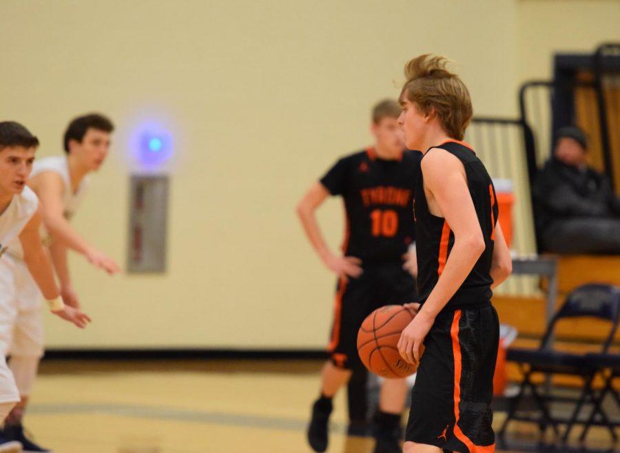 Sophomore Jake Taylor against Bald Eagle.