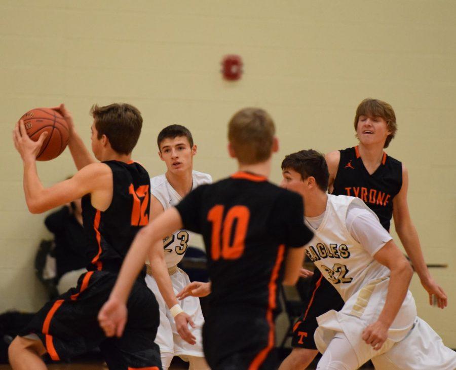 Sophomore Blaine Hoover  against Bald Eagle.