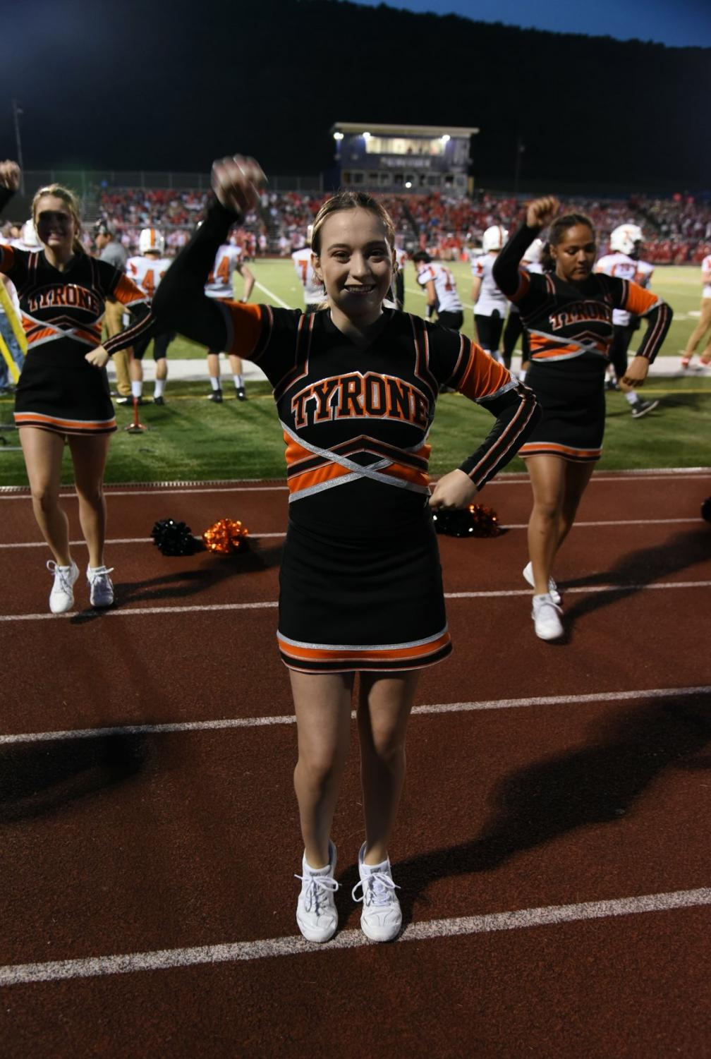 Olivia Watson has been cheering since she was in 7th grade.