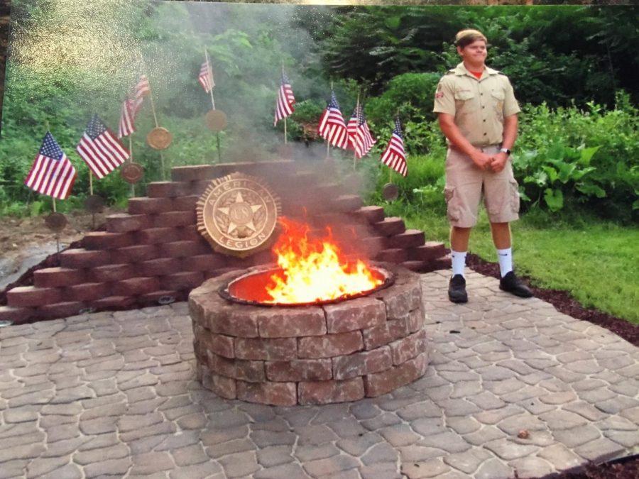 Senior+Trevor+Fink+built+a+flag+burning+pit+for+his+Eagle+Scout+Project.