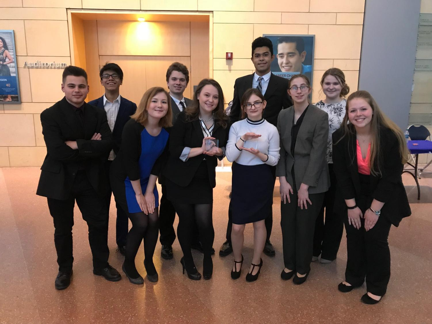 Members of the Tyrone Mock Trial team at State College Tournament