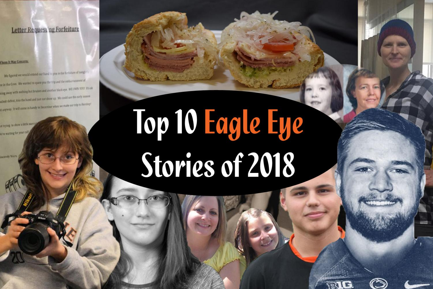 Just some of the images from the top Eagle Eye stories of 2018.