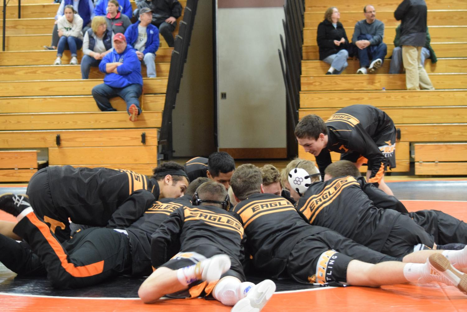 Tyrone wrestling team before the match.