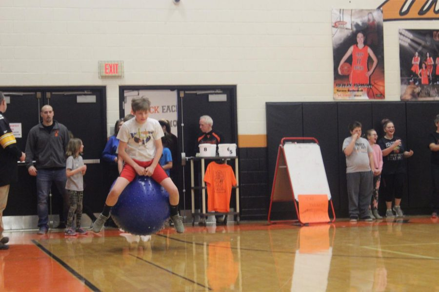 The bouncy ball race was one of the most popular events at the last SOAR assembly.