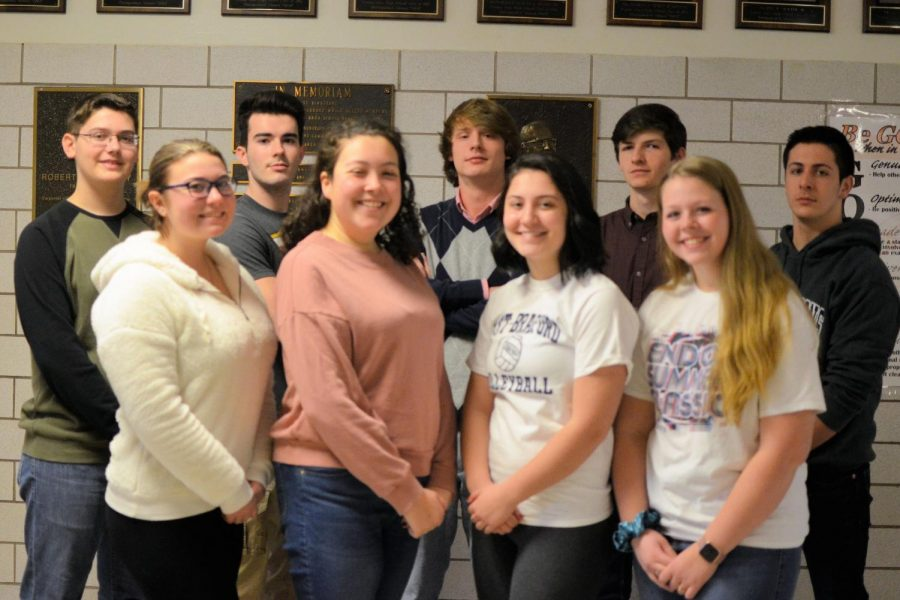 TAHS District Chorus Participants. Front row (left to right): Olivia Reese, Hannah Gampe, Alexis Umholtz, Lindsey Walk. Back row (left to right): Tyler Beckwith, Nick Vasbinder, Brent McNeel, Ethan White, Dean Grassi.