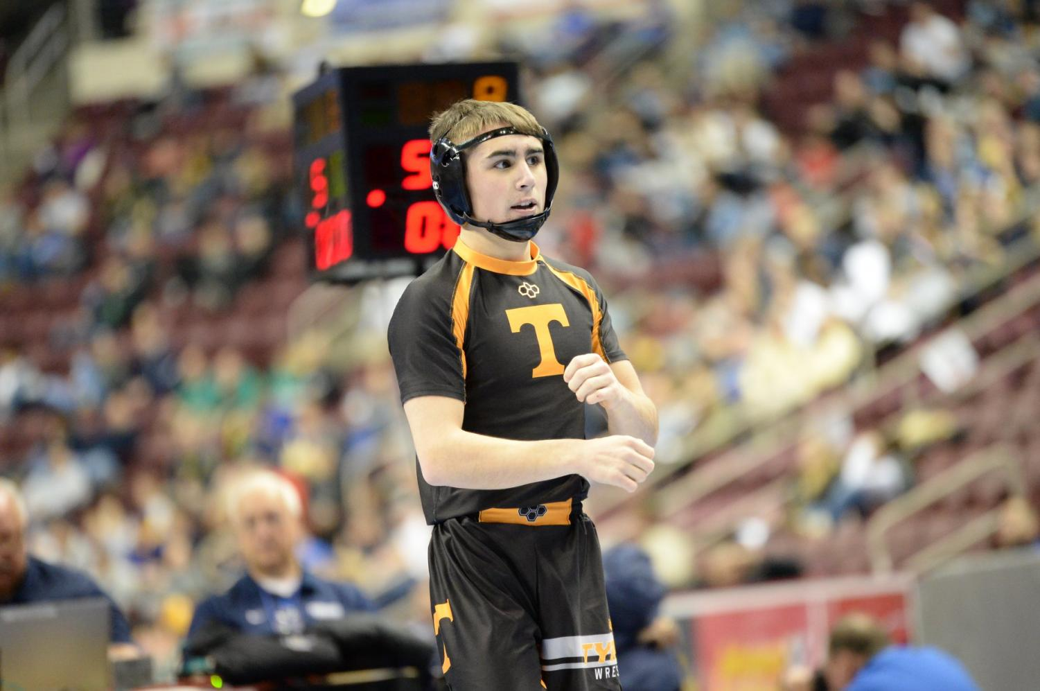 Walk after winning his first match at States on Thursday.