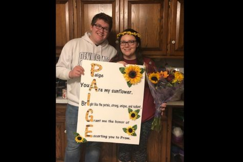 Chris Wilkins and Paige Kephart with their promposal.