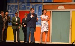 Nick DelBaggio with Aary Wright performs in the Tyrone production of How to Succeed in Business Without Really Trying