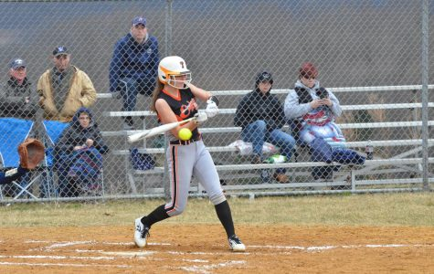 Senior pitcher Cate Baran was hoping to lead the Lady Eagles to their first district title this season (photo from 2019)