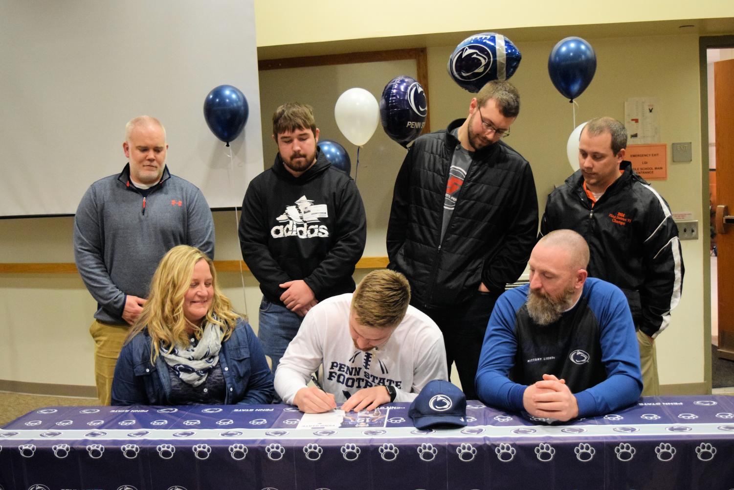Denver Light making his commitment to PSU at signing ceremony.