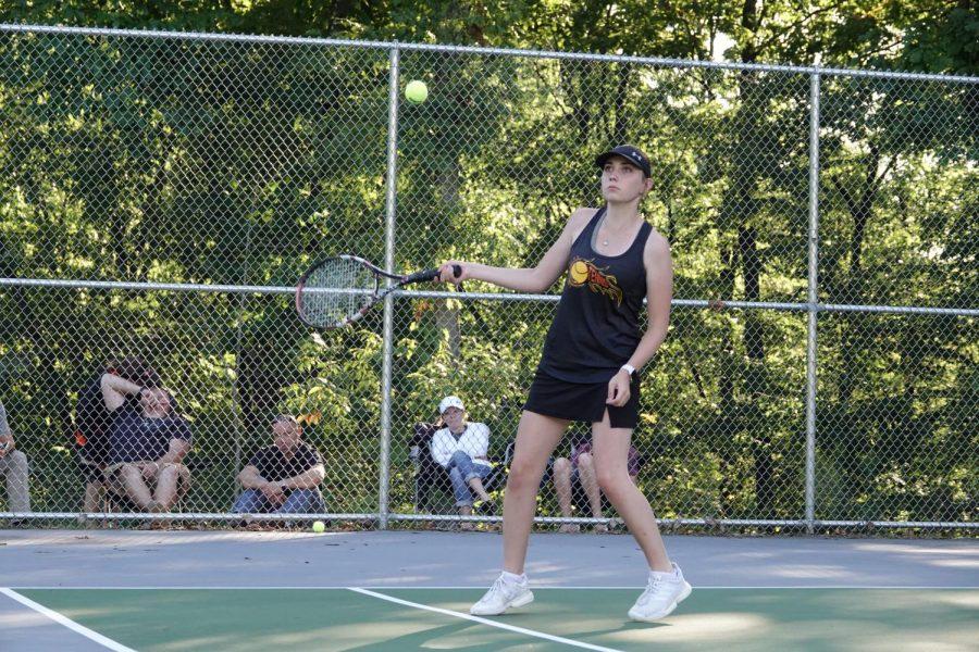 Alicia Endress hits a match winning shot.