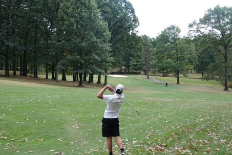 Sophomore Colt Brooks hitting his second shot.