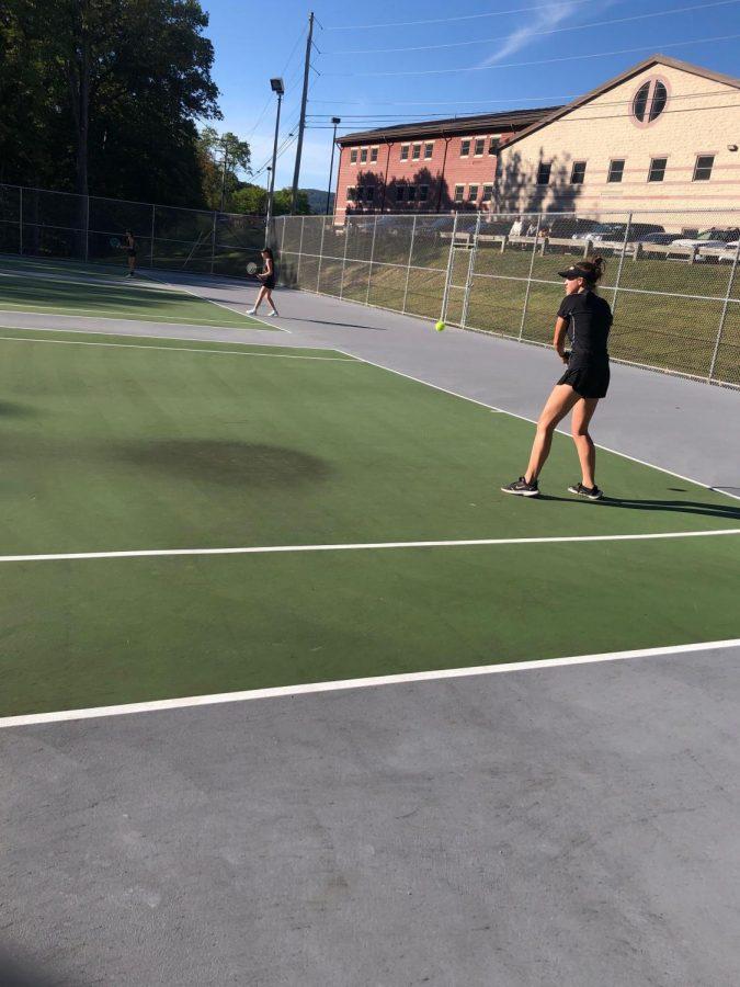 Rachel+Stricek+dominates+in+her+singles+match