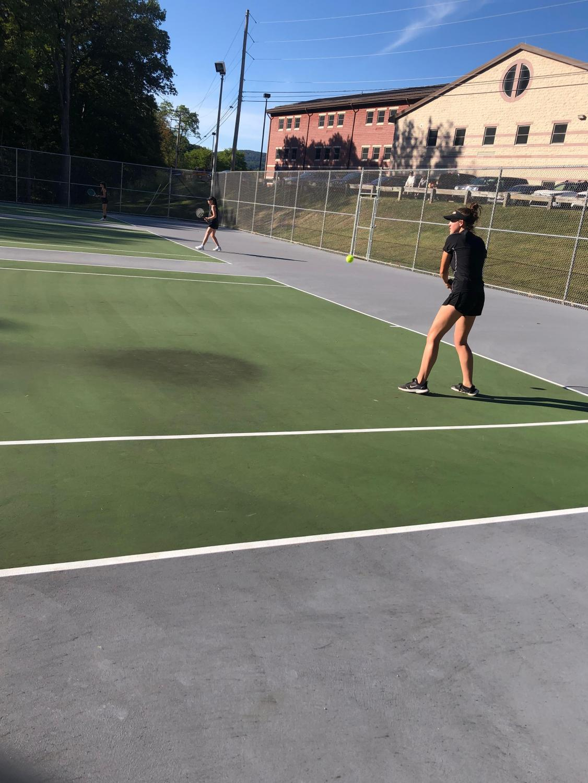 Rachel Stricek dominates in her singles match
