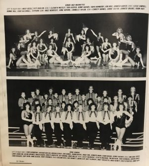 yearbook photo of 1988 majorettes