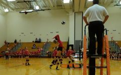 Makenna Bauer going up for a kill.