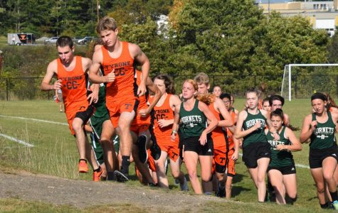 The Cross Country team starting their meet.