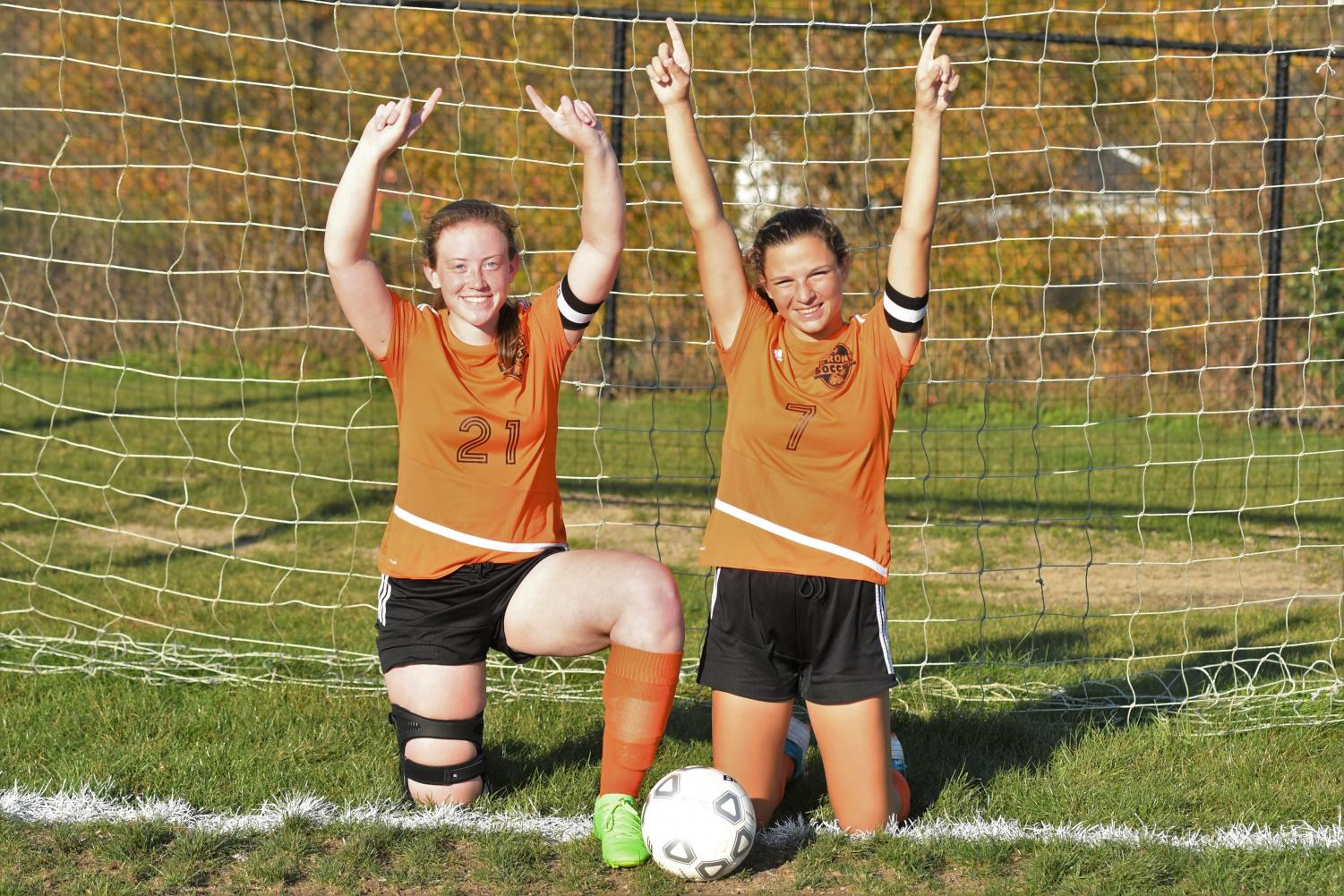 The game against central was the last home game for seniors Madison Soellner and Cate Baran.