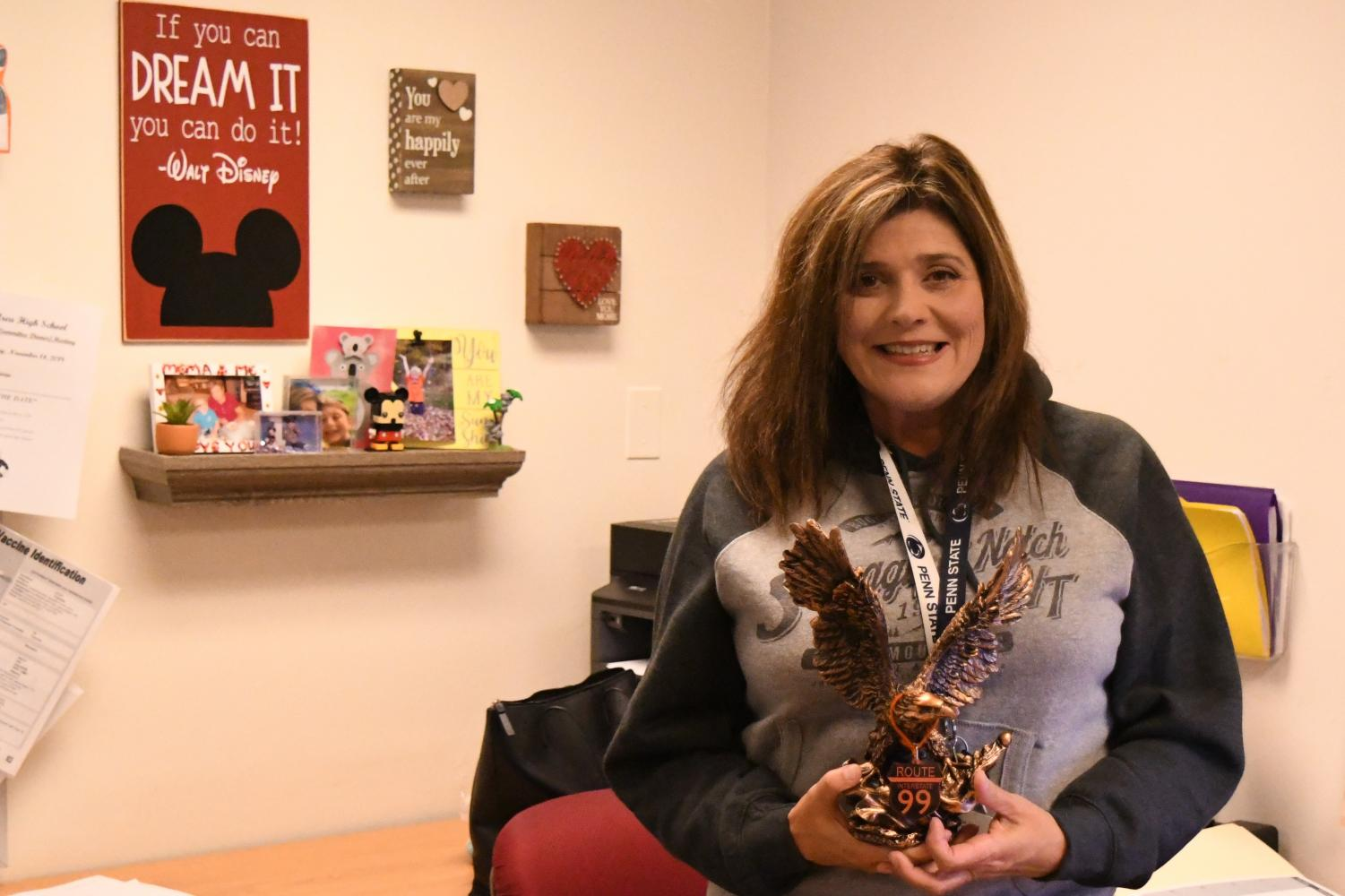School nurse Tracy Miller is in her second year as the full time middle and high school nurse.  She is always there to help students and staff alike.