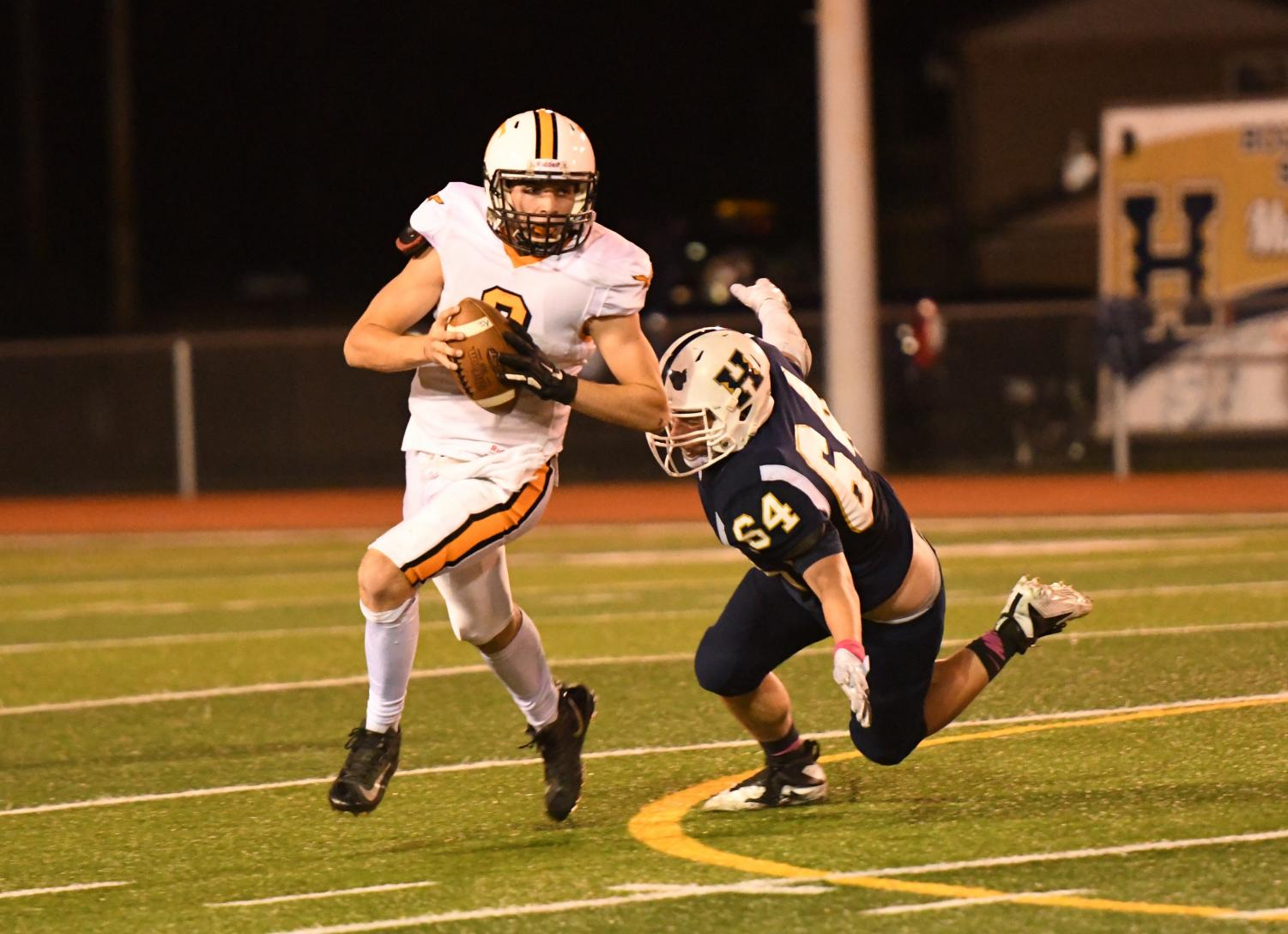 Quaterback Brandon Lucas led the Eagles on the ground and in the air with 116 yards rushing and 147 yards passing in a 41-13 loss to Hollidaysburg