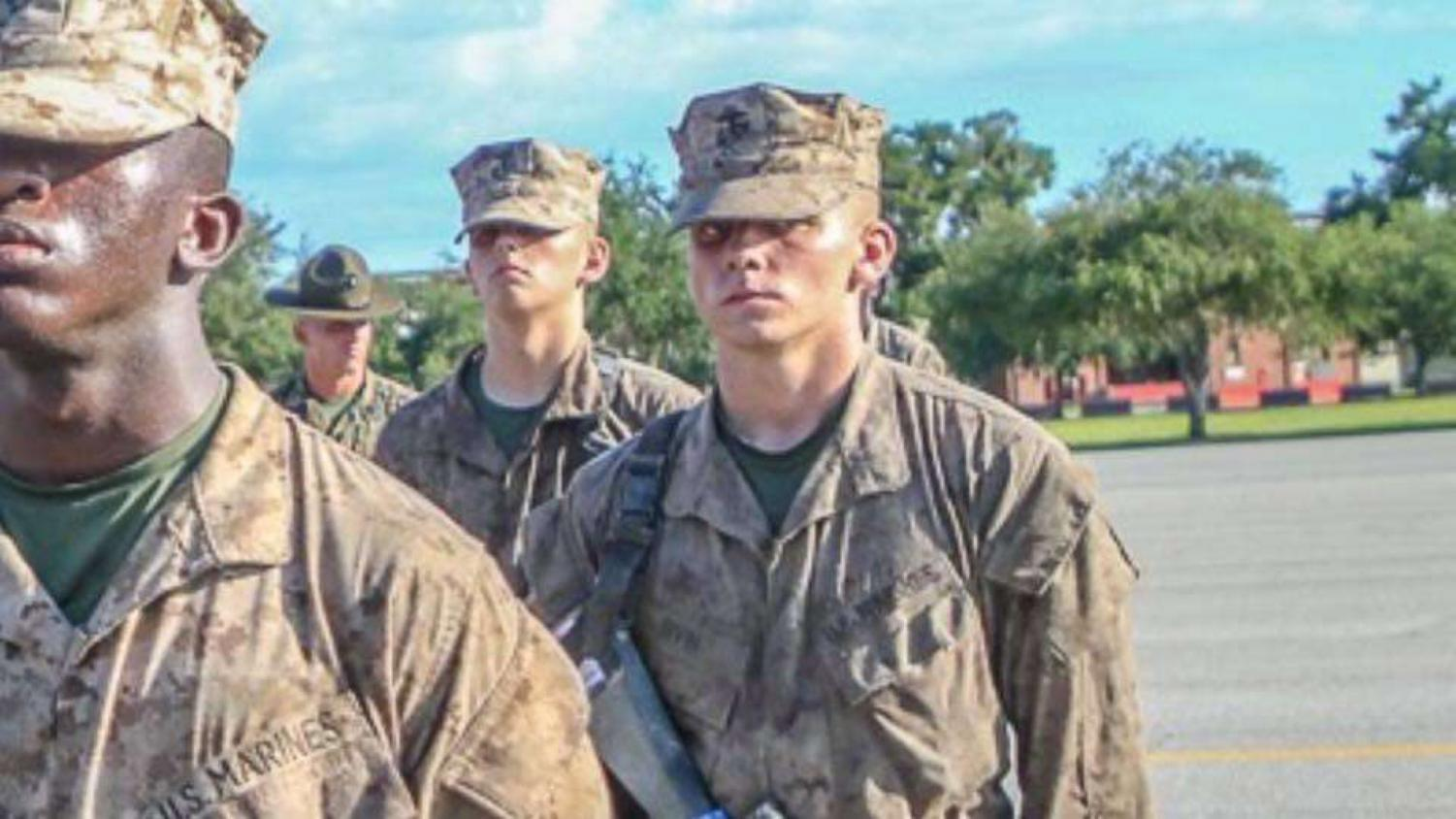 Noah Irvin is officially named a United States Marine after the Crucible.