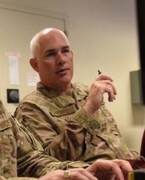 Col. Vance in uniform