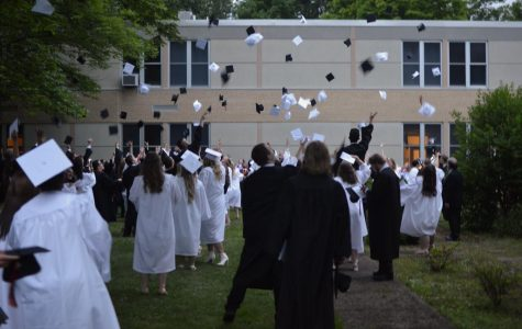 The Tyrone graduating class of 2020 hopes to be able to throw their caps in the courtyard at some point this spring.